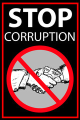 Vector poster Stop Corruption