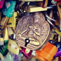 Budda oriental padlock background