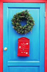 Christmas mailbox red