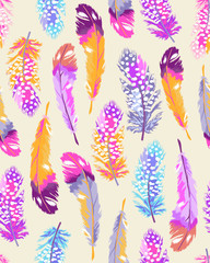soft feather print ~ seamless background