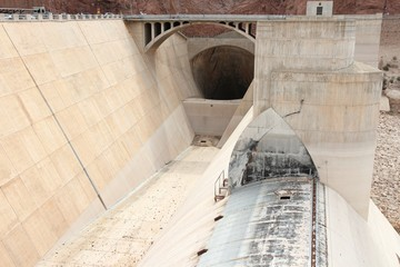Hoover Dam - hydroelectric power plant in Arizona