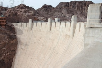Hoover Dam - hydroelectric power plant in USA