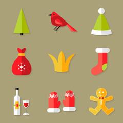 9 Christmas Icons Set 6