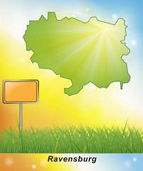 Karte von Ravensburg