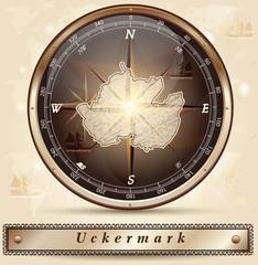 Karte von der Uckermark