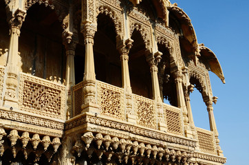 Rajasthan architecture - popular touristic landmarks,India