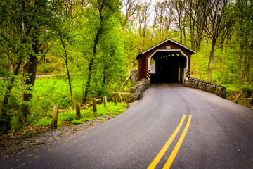 Kurtz's Mill Covered Bridge in Lancaster County Central Park, Pe