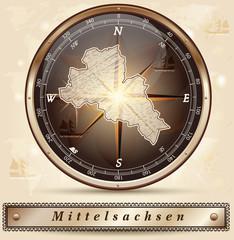 Karte von Mittelsachsen