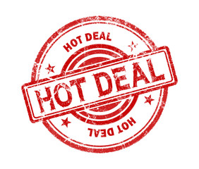 hot deal stamp on white background