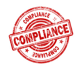 compliance stamp on white background