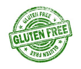 gluten free stamp on white background
