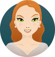 Portrait woman elegant redhead