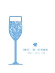 Vector purple lace flowers wine glass silhouette pattern frame