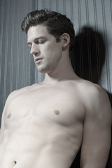Young Caucasian Man With Athletic Body