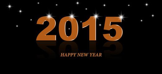 2015 year orange color text design