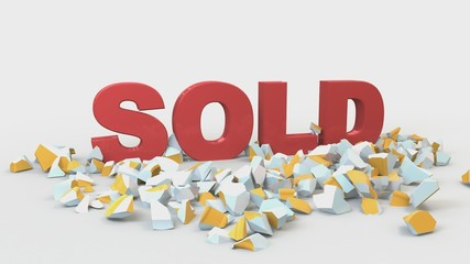 For sale crashed with sold