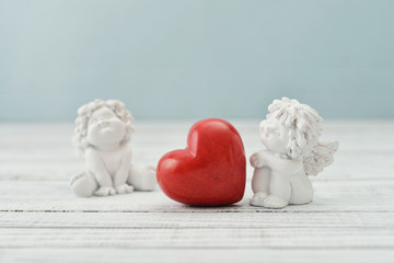 Angels with stone heart