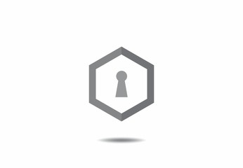 keylock security logo vector