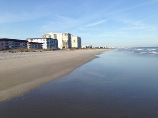 The beach in Cocoa Beach, Florida