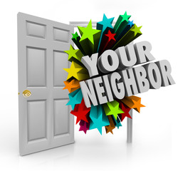 Your Neighbor Open Door Community Meet Introduce People Next Doo