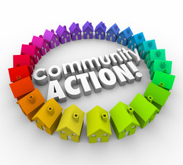 Community Action Words Neighborhood Homes Coalition Group
