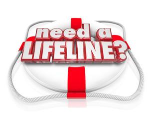 Need a Lifeline Life Preserver Words Help Desperate Need Aid