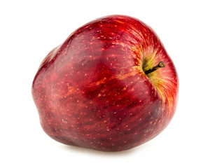 Macro closeup of plump red apple