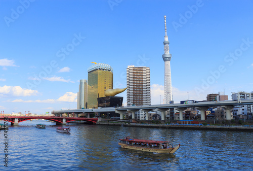 Tokyo Sky Tree and Sumida river in Tokyo