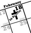 2015 ash wednesday calendar date icon