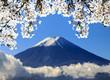 Zdjęcia na płótnie, fototapety, obrazy : the sacred mountain of Fuji in the background of blue sky at Jap