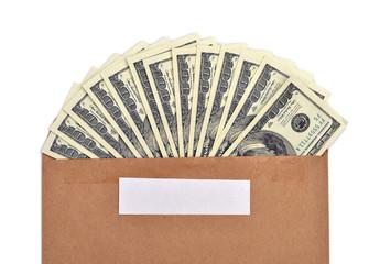 Доллары США  в конверте