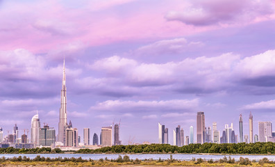 Beautiful Dubai cityscape