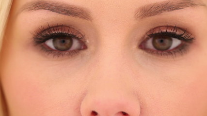 Close up Pretty Woman Face