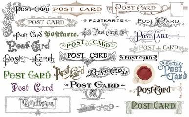Vintage postcards set