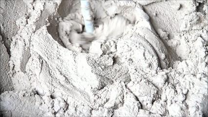 Zement anrühren