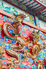Detail of Golden Dragons wall decoration