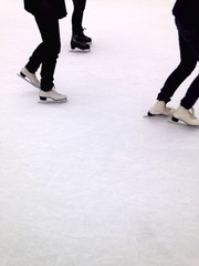 three skaters at millenium park