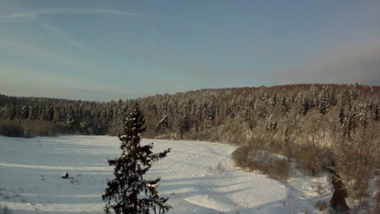 View from above of winter landscape