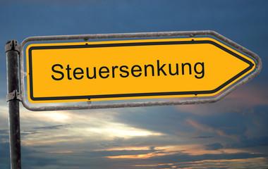 Strassenschild 19 - Steuersenkung
