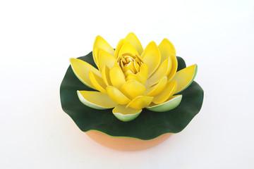 yellow artificial lotus