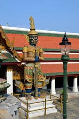 Guardian of Buddhist teaching in Royal Palace of Bangkok
