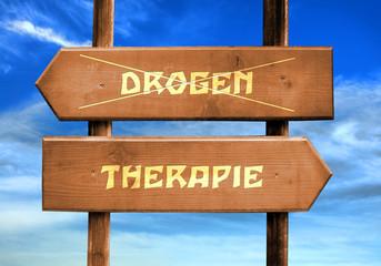 Strassenschild 29 - Drogentherapie