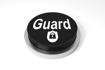 black round button guard protection symbol