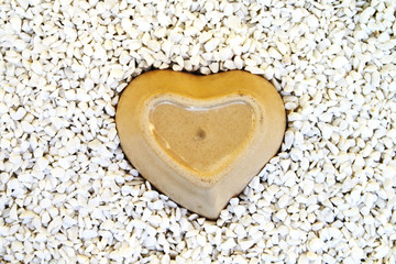 heart bowl in mill stone
