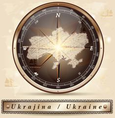 Karte der Ukraine