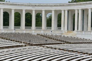 Pillars in an amphitheater