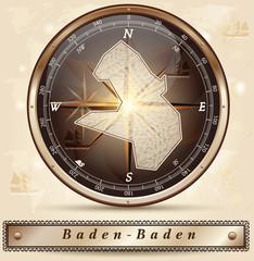 Karte von Baden-Baden