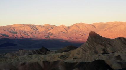 Sunrise Badlands Amargosa Range Death Valley Zabriske Point