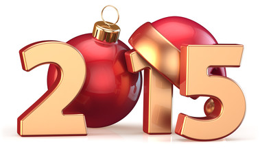 2015 New Years Eve Christmas ball decoration bauble