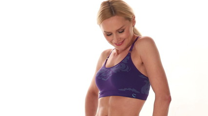 Fit confident young blond woman
